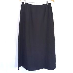 Linen Talbots Aline Maxi Modest Skirt Pockets Long